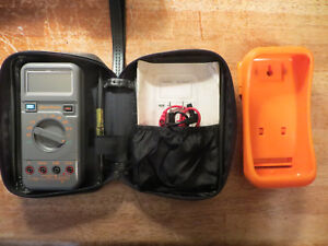 Blue point Multimeter Auto Range With Case Manual Model Eedm504a