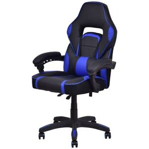 Executive High Back Racing Style Pu Leather Gaming Office Room Home Chair Seat