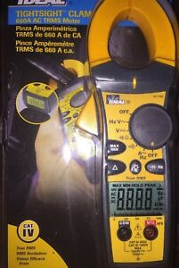 Ideal 61 763 660aac Tightsight Clamp Meter W True Rms Capacitance And Frequency