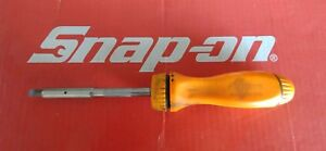 Snap On Tools Orange Magnetic Ratcheting Screwdriver W Bits Ssdmr4a