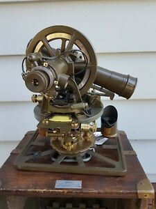 David White Double Center Balloon Theodolite Transit Korean War Era Signal Corps
