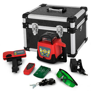 Rotary Laser Level Green Beam Building Remote Control Waterproof Strong Packing