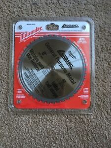 Milwaukee 48 40 4515 8 inch 42 Tooth Dry Cut Cermet Tipped Metal Cutting Saw Bla