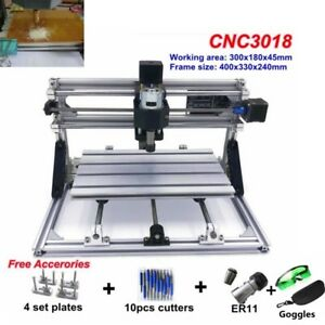 3018 Grbl Control Mini Cnc Router Milling Wood Engraving Machine Printer 3 Axis