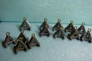 Fishing Tackle - Lot of 13 Triangle Lead Weight River Sinkers 1 oz 2 oz 3 oz