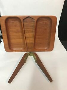 Mid Century Solid Teak Tray And Nut Cracker By Digsmed Denmark
