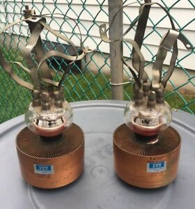 Two 2 Itt Electron Technology Division F 6367 Glass Vacuum Tube Capacitors