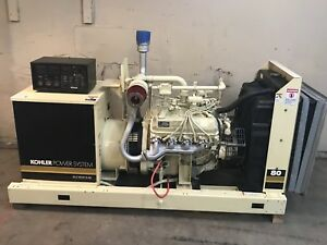 80 Kw Generator Kohler Natural Gas Propane 12 Lead Reconnectable 1 3 Phase