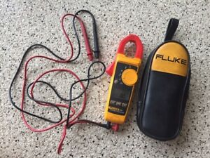 Fluke 324 Plus True Rms Clamp Meter With Leads And Case nice