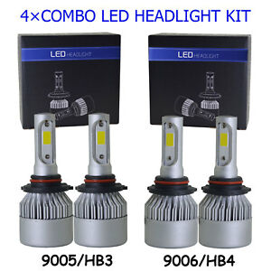 9005 9006 Combo Led Headlight Bulbs For Honda Civic 2004 2013 High Low Beam