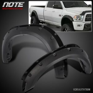 For 2010 2017 Dodge Ram 2500 3500 Pocket Rivet Textured Black Fender Flares