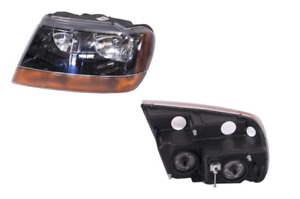 Headlight Left Hand Side For Jeep Grand Cherokee Wj Wg 1999 2005