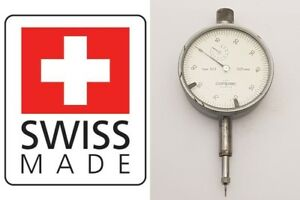 Brown Sharpe Tesa Dial Test Indicator 001mm Compac Geneve Swiss 523