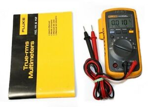 Fluke 112 True Rms Multimeter With Test Leads Cover And Manual