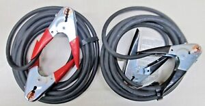 Forney 52876 16 H d Jumper Cables premium 2 Welding Cable W Copper Clamps