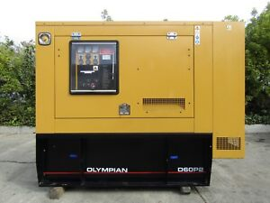 Olympian 60 Kw Generator Perkins Diesel Engine Only 167 Hours With Fuel Tank 230