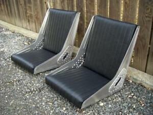 Bomber Style Seats Hot Rod Rat Rod Custom Aluminum Tuck And Roll Upholstery