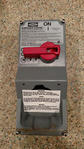Hubbell Circuit lock 30 Amp 600vac Single Throw Disconnect Switch Fast Free Ship