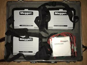 Megger Lt320 Loop mit 320 Insulation And Rcdt 320 Testers