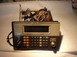 Marconi Instruments 2022 Signal Generator Front Panel And Power Supply T31462