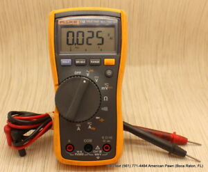 Fluke True Rms Multimeter Digital 115 Trms No Rubber Shell