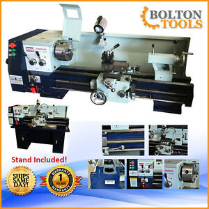 New Bolton Tools Cq9332a Lathe 12 X 30 Gear Head Metal Lathes Stand Included