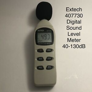 Extech 407730 Digital Sound Level Meter 40 130db New Other