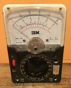 Vintage Tachikawa Model 200c Ibm Voltage Ohm Meter Test Equipment Working