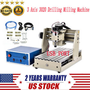 3 Axis 3020 Cnc Router Engraver 300w With Usb Port 3d Drilling Milling Machine