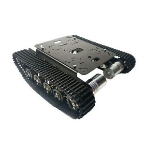 Ts100 Metal Rc Robot Tank Car Chassis Shock Absorption Car With 12v 330rpm Sz