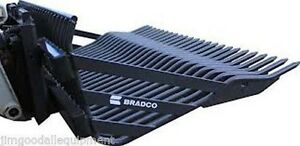 84 Rock Bucket Hd Bradco Fits Larger Skid Steer track Loaders 3 Spacing
