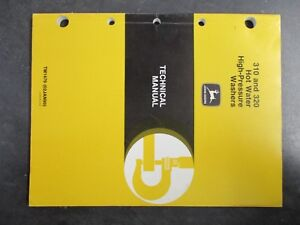 John Deere 310 320 Hot Water High Pressure Washers Technical Manual