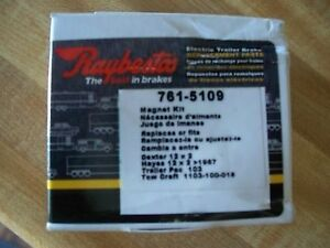 Raybestos Magnet Kit 761 5109 New In Pkg Dexter Hayes Trailer Pac