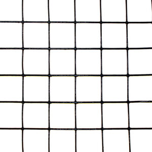 6 X 100 Welded Wire 19ga Deer Animal Fencing Black Pvc Coated 1 x1 Mesh