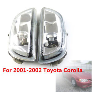 Clear Front Bumper Driving Fog Light For 2001 02 Toyota Corolla 8122002030 Sale