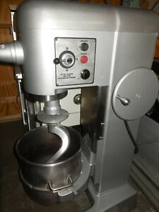 Used Hobart D 340 40qt Food Mixer With S s Bowl And 2 Tools 208 Volts