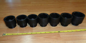 Usa Made Craftsman Industrial 3 4 Drive Large Impact Socket Set Sae Inch 7