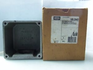 New Hubbell Hbl26401 Hubbellock 60a Back Box For Hbl26410 Hbl26420 Hbl26520 Nib