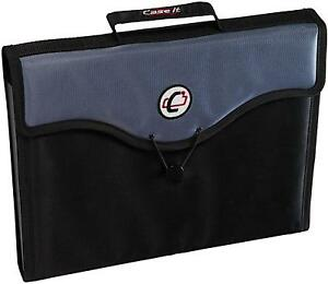 Case it 13 pocket Expanding File With Handle And Shoulder Strap Eff 30 blk