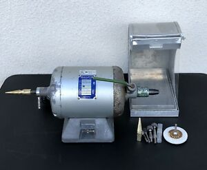 Baldor Polishing Lathe 380wct 1 3 Hp 2 Speed W Dust Collector Attachments