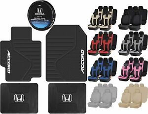 All Weather Heavy Duty Rubber Floor Mats Racing Seat Covers For Honda Accord