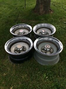 Chevy Truck Rally Wheels 15x 8 5 Lug Set Of 4