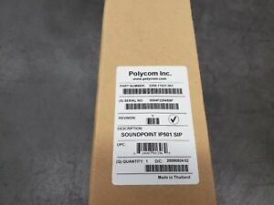 New Polycom Soundpoint Ip501 Phone Sip Lan Power Cable Ac Adapter Stand