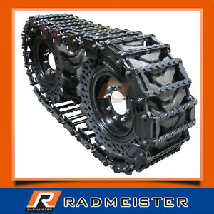 Over The Tire Skid Steer Steel Tracks 10 For New Holland