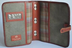 Mulberry Sage Green brown Scotch Grain Leather Vintage Organiser diary Planner