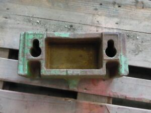John Deere Utility Tractor Weight Bracket Tag 116