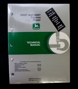 John Deere 9300t 9400t Tractor Tm1782 Service Shop Repair Technical Manual New