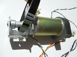 Hp Design jet 9000 Paper Axis Servo Motor With Drive Pulley And Toothed Belt