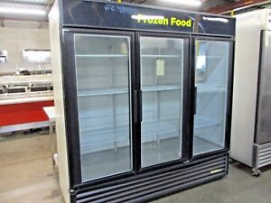 True Gdm 72f Glass Swing 3 Door Merchandising Freezer 13084