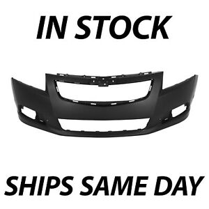New Primered Front Bumper Cover Replacement Fascia For 2011 2014 Chevy Cruze Rs
